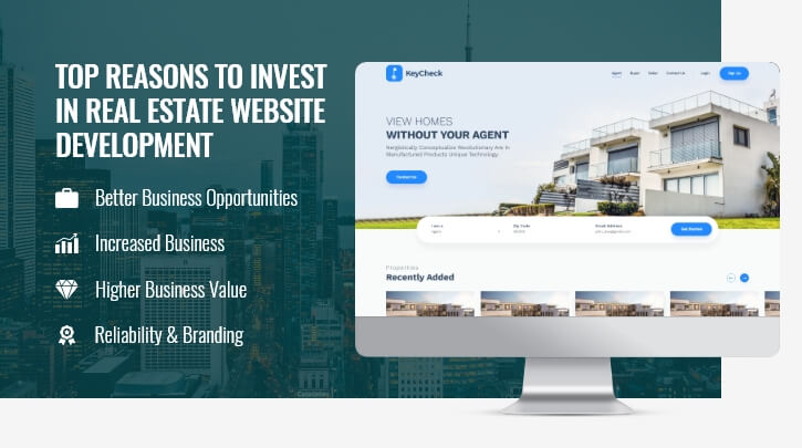 Invest Online for Real Estate Website Development