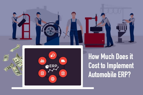Cost of developing ERP for Automobile