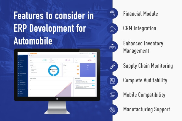 Features for Automobile ERP Development