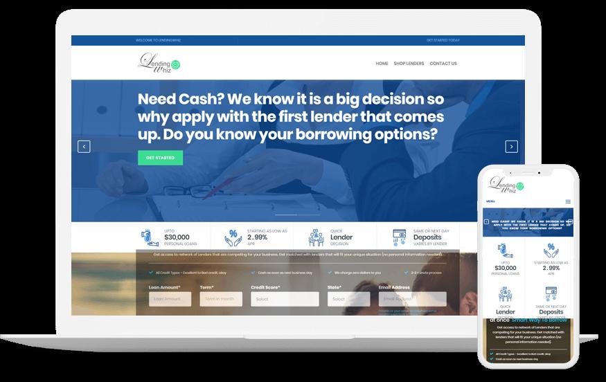Landing whiz- Custom Web Application Development