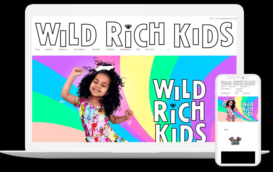Wild rich kids- Custom Web Application